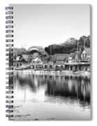 Boathouse Row In Black And White Spiral Notebook