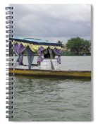 Boatman Taking A Couple Out On A Shikhara Spiral Notebook