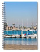 Boats And Blue Water Spiral Notebook