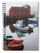 Boats At Rockport Harbor Spiral Notebook