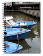 Boats In Amsterdam. Holland Spiral Notebook