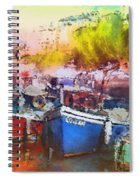 Boats In Italy Spiral Notebook