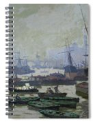 Boats In The Pool Of London Spiral Notebook