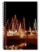 Boats Lighted Spiral Notebook