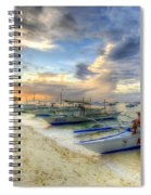 Boats Of Panglao Island Spiral Notebook