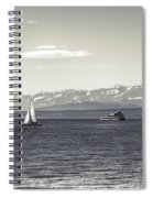 boats on Lake Constance Spiral Notebook