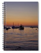 Boats On The Adriatic Sea Spiral Notebook