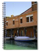 Boats On The Canal - Venice Spiral Notebook
