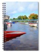 Boats On The Garavogue Spiral Notebook
