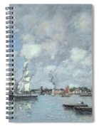 Boats On The Garonne Spiral Notebook