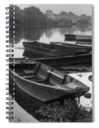 Boats On The Vienne Spiral Notebook