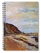 Boatyard Near Honfleur Spiral Notebook
