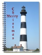 Bodie Lighthouse - Outer Banks - Christmas Card Spiral Notebook
