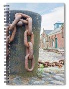 Bollard And Chain Spiral Notebook
