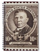 Booker T Washington Postage Stamp Spiral Notebook
