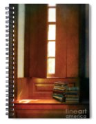 Books On A Window Seat Spiral Notebook