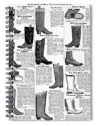 Boots Advertisement, 1895 Spiral Notebook