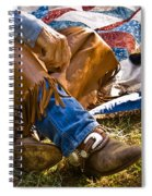 Boots And Quilt On The Trail Spiral Notebook