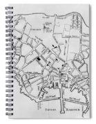 Boston: Map, 1770 Spiral Notebook
