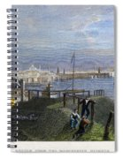 Boston, Mass., 1838 Spiral Notebook