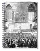 Boston: Music Hall, 1856 Spiral Notebook