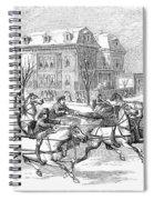 Boston: Sleighing, 1854 Spiral Notebook