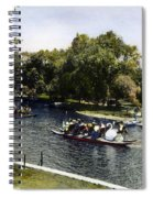 Boston: Swan Boats, C1900 Spiral Notebook