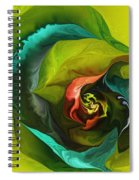 Botanical Fantasy 011512 Spiral Notebook