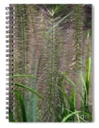 Bottle Brush Grass Spiral Notebook