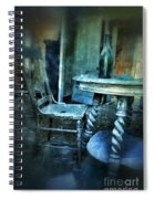 Bottle On Table In Abandoned House Spiral Notebook