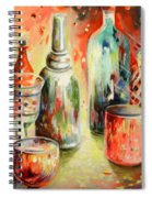 Bottles And Glasses And Mugs 03 Spiral Notebook