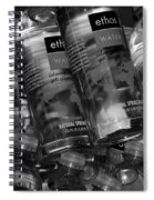Bottles Of Water Spiral Notebook