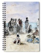 Boudin: Beach Scene, 1869 Spiral Notebook