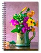 Bougainvilleas In A Green Jar. Valencia. Spain Spiral Notebook
