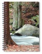 Boulder And Stream Spiral Notebook