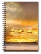 Boulder Colorado Flagstaff Fire Sunset View Spiral Notebook