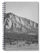Boulder Colorado Flatiron Scenic View With Ncar Bw Spiral Notebook