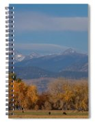 Boulder County Colorado Continental Divide Autumn View Spiral Notebook