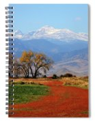 Boulder County Colorado Landscape Red Road Autumn View Spiral Notebook