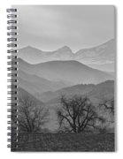 Boulder County Layers Bw Spiral Notebook
