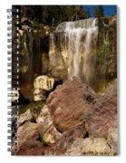 Boulders Under The Falls Spiral Notebook