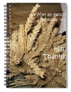 Bounty. Thanksgiving Greeting Card Spiral Notebook