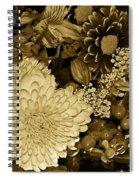Bouquet In Sepia Spiral Notebook