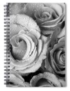 Bouquet Of Roses With Water Drops In Black And White Spiral Notebook