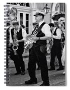 Bourbon Street Second Line Wedding New Orleans In Black And White Spiral Notebook