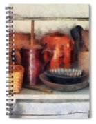 Bowls Basket And Wooden Spoons Spiral Notebook