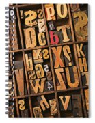 Box Of Old Wooden Type Setting Blocks Spiral Notebook
