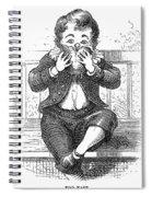 Boy Eating Spiral Notebook