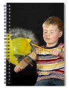 Boy Popping A Balloon Spiral Notebook