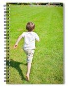 Boy Running Spiral Notebook